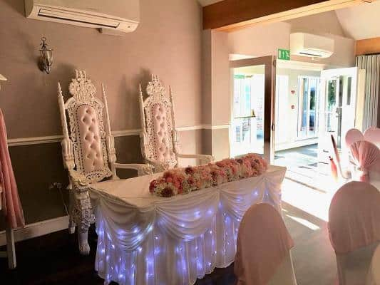 wedding chair cover hire cannock john deere office mr and mrs throne bride groom thrones white for weddings in