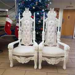 Wedding Chair Cover Hire Cannock Wingback Chairs Canada Mr And Mrs Throne Bride Groom Thrones White For Weddings In