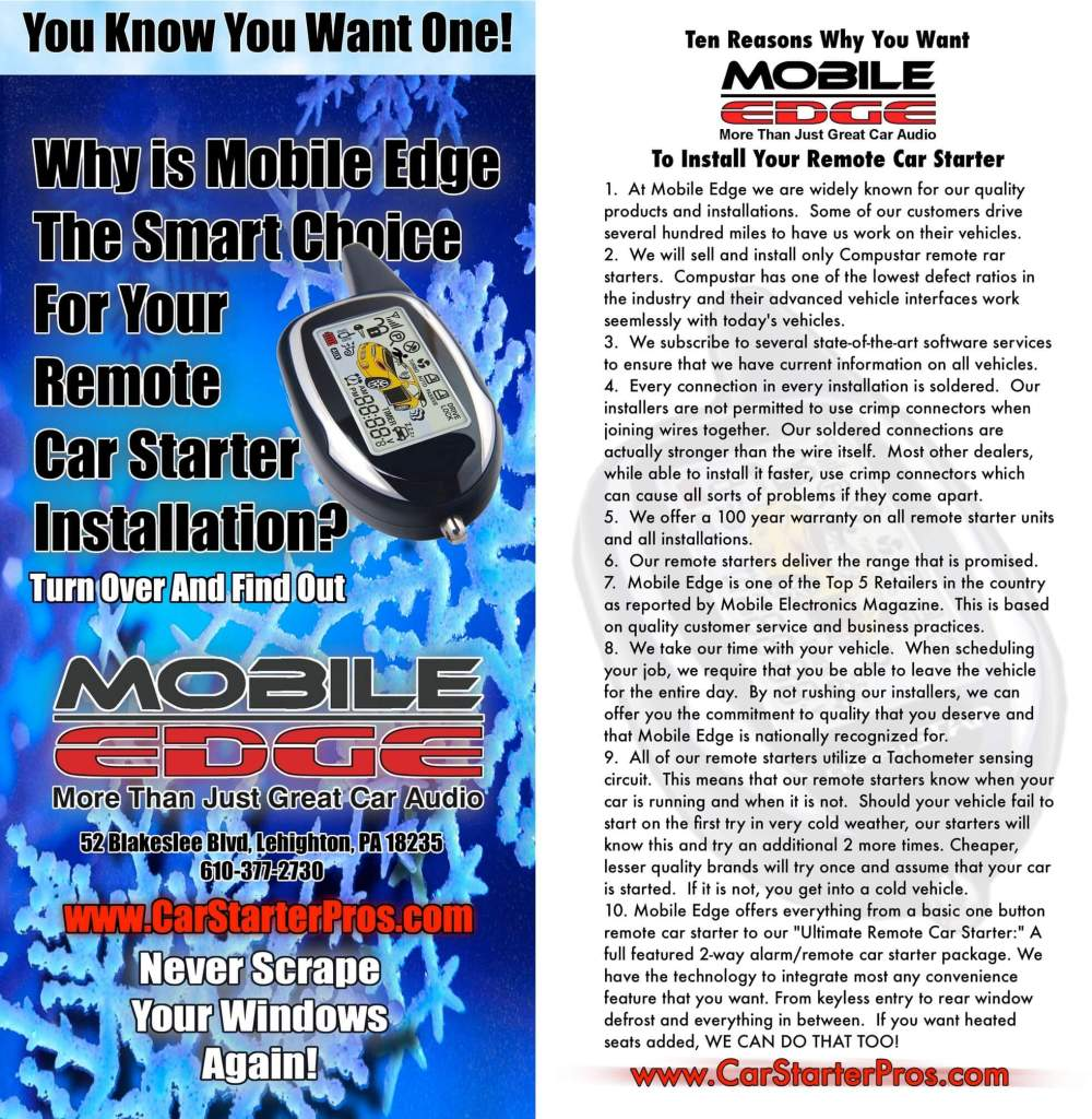 medium resolution of  place to go for quality remote car starter installations