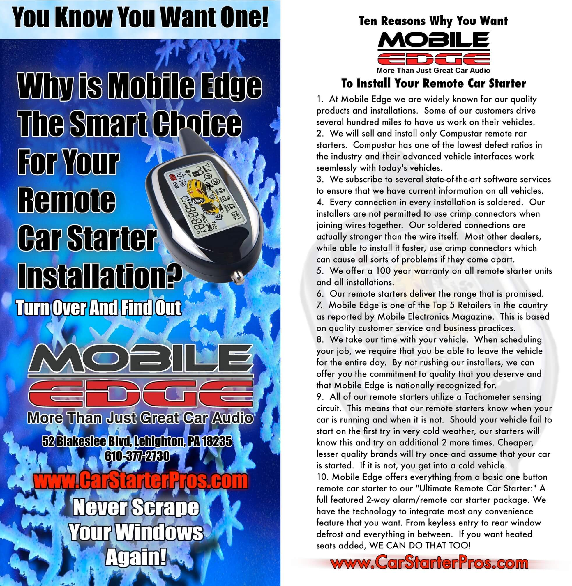 hight resolution of  place to go for quality remote car starter installations