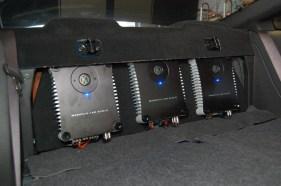 Memphis SC amplifiers Mounted in 07 Mustang