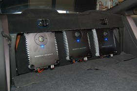 Memphis SC amplifiers Mounted in 07 Mustang