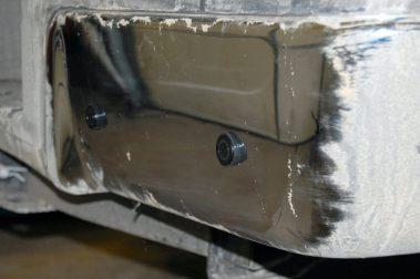 Closeup of Installed backup sensors