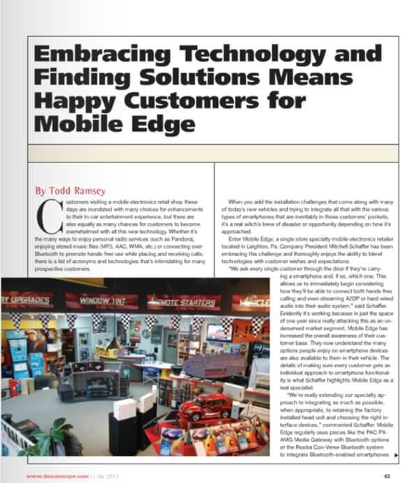 consumer electronics trade magazine dealerscope features mobile edge. Black Bedroom Furniture Sets. Home Design Ideas