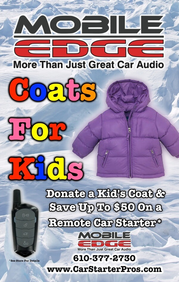 3572375c8f21 Coats For Kids Underway Once Again At Mobile Edge!