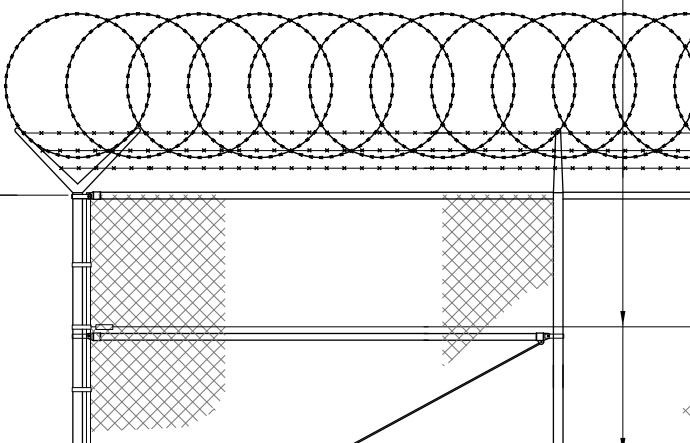 Chain Link Mesh Temporary Fence Panels, Galvanised, Powder