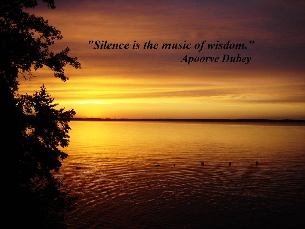 Silence - Inspirational Quotes Images
