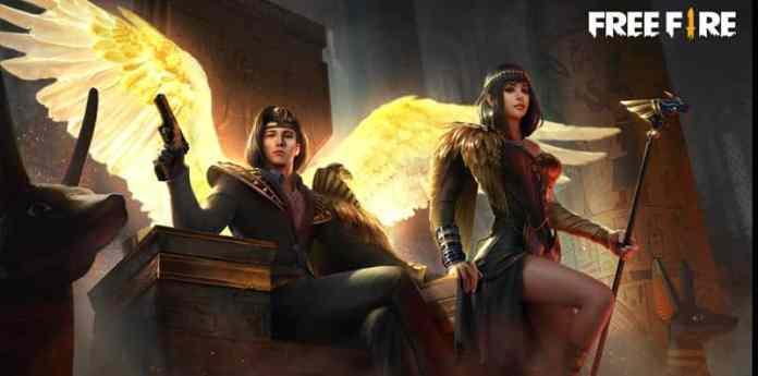 free-fire-casal-deuses-egipcios 300 Nomes para Casal no Free Fire (combinando, engraçados e criativos)