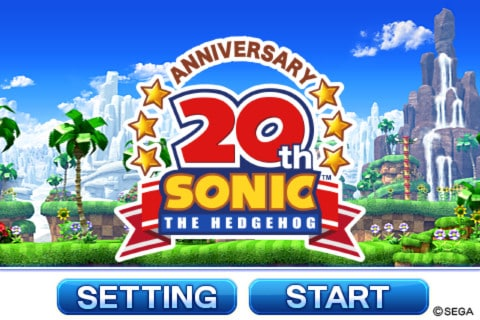 Sonic20thAnniversaryTitleScreen Sonic 30 anos: relembre os jogos para celular do mascote da SEGA