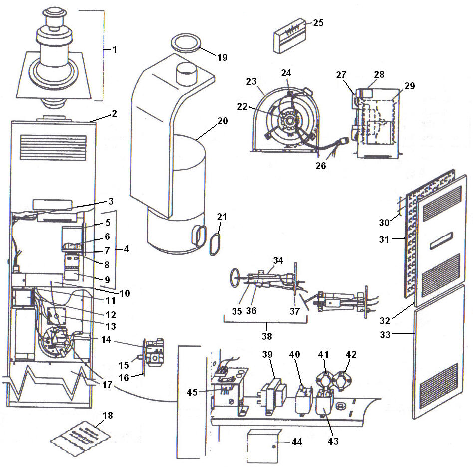 mobile home furnace gas valve parts likewise furnace wiring diagram