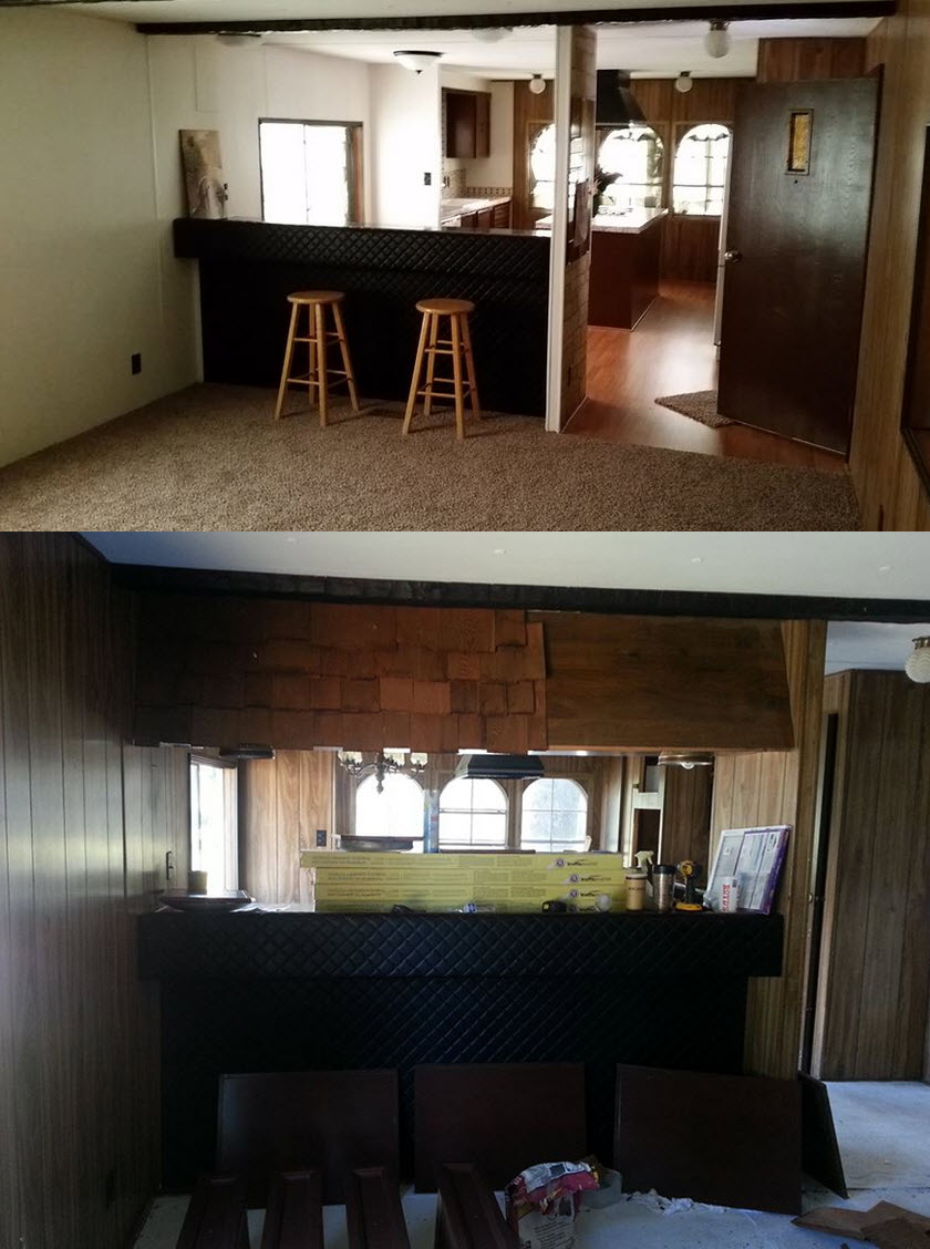 big lots kitchen appliances cupboard installation mobile home makeover - before and after rehab pictures
