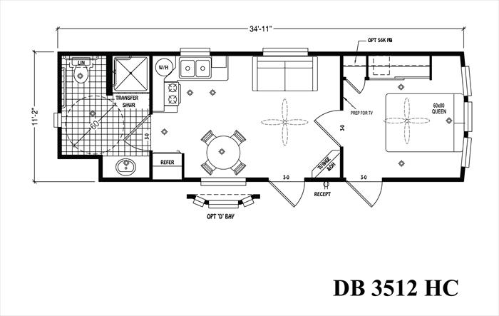 Reliable Home Solutions DB 3512 HC floorplan