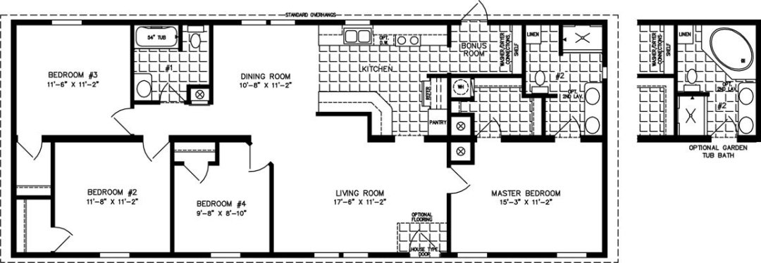 The Imperial Floorplan 46021A Model
