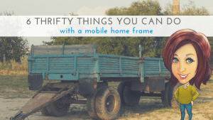 """Featured image for """"6 Thrifty Things You Can Do With A Mobile Home Frame"""" blog post"""