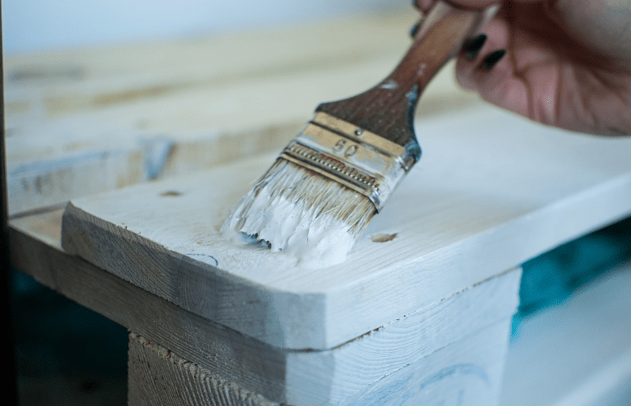 painting a piece of wooden furniture