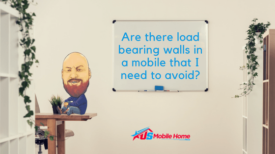 """Featured image for """"Are There Load Bearing Walls In A Mobile Home That I Need To Avoid?"""" blog post"""