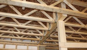 Joists in the ceiling