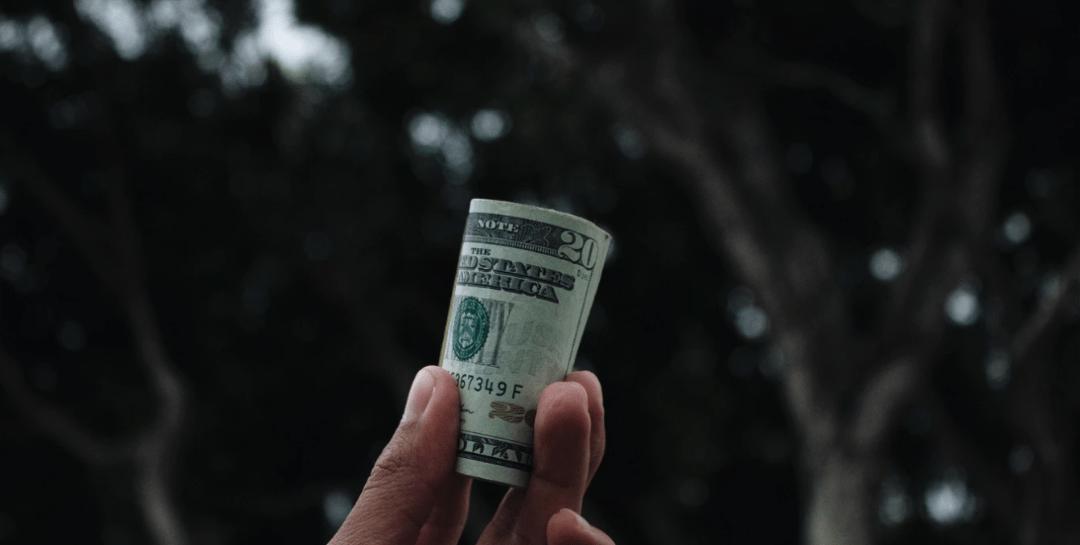 A roll of $20 bills