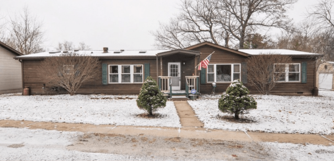 A mobile home in Lafayette, IN