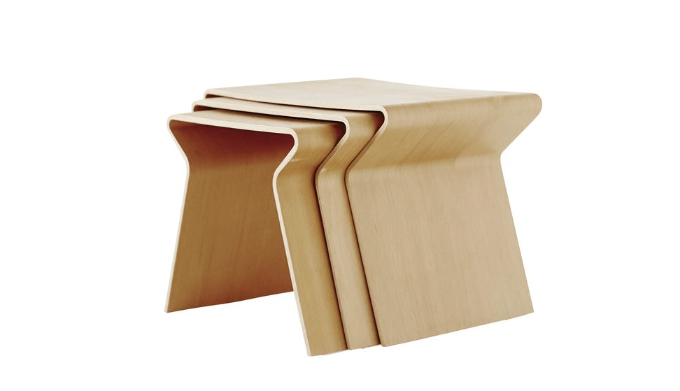 A set of ratan nesting tables