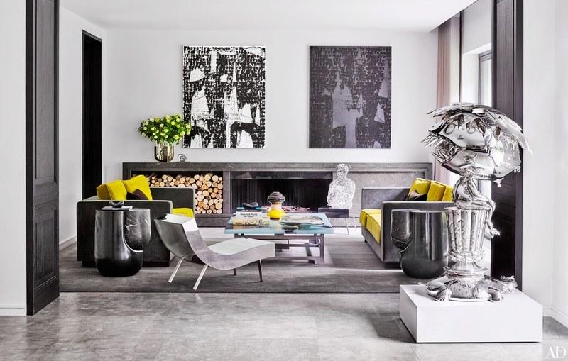 Modern interior design in living room