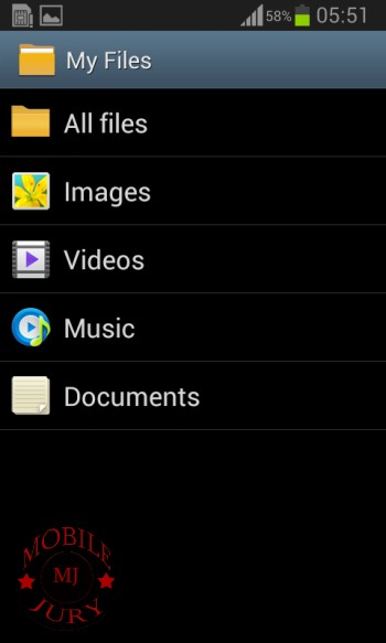 File manager_Samsung Galaxy Star Pro