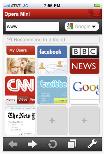 Opera Mini Web browser for the iPhone approved