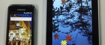 Samsung Galaxy Tab running Google Android