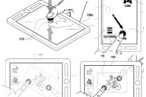 Samsung's patent shows a front and back screen being manipulated by touch commands