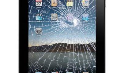 Simulated broken display on 1st gen iPad Photo: Fix-iPhones