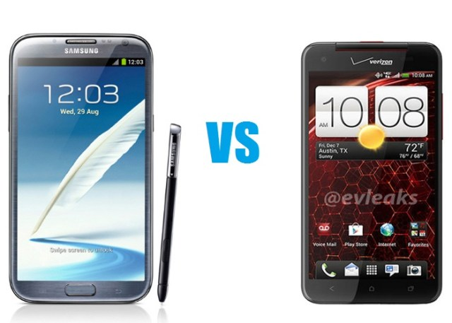 HTC Droid DNA vs Note 2