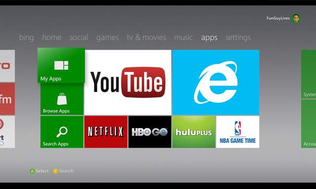 Xbox 360 apps