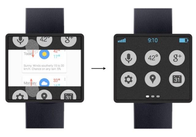 google smart-watch concept