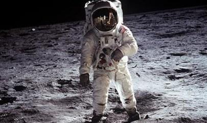 Image: Aldrin on moon during Apollo 11