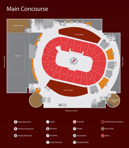 Diagram Of Bull Prudential Center Maplets