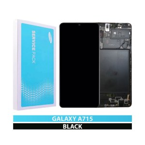 Galaxy A71 (A715) LCD and Digitiser Touch Screen Assembly (Samsung Service Pack)