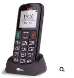 TTfone Mercury 2 (TT200) Pay As You Go – Prepay – PAYG – Big Button Basic Senior Mobile Phone – Simple – with Dock (O2 with £10 Credit, Black)