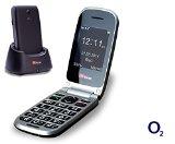 TTfone Pluto (TT600) – O2 Pay As You Go – Prepay – PAYG – Big Button Clamshell Flip Senior Emergency Mobile Phone – Easy to Use Simple – Black
