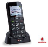 TTfone Saturn Vodafone Pay As You Go Big Button Bluetooth Senior UK Sim Free Mobile Phone with Camera and Dock – Black