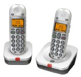 Amplicomms BigTel 202 Big Button Amplified Cordless Twin DECT Telephone – White