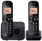 Panasonic KX-TGC212EB Digital Cordless Phone with LCD Display (Two Handset Pack) – Black