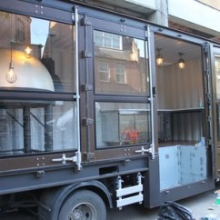 Mobile Kitchen Trailers Cheap Cabinet Shipping Container Conversion   Dragon Ovens
