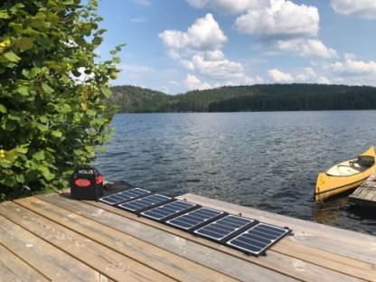 Sammenleggbart Solcellepanel Brygge