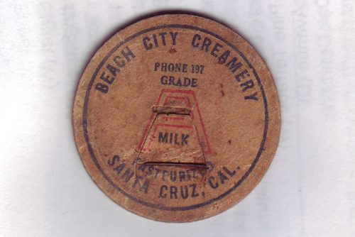 A bottle top for milk from Beach City Creamery. Image: Cynthia Matthews