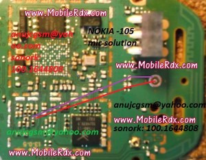 Nokia 105 Mic Problem Jumper Solution | MobileRdx