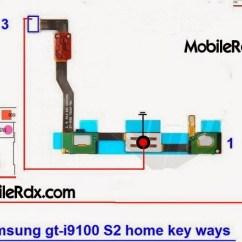 Phone Line Wire Diagram Cal Spa 2100 Wiring Samsung Galaxy S2 I9100 Home Key Button Jumper Ways | Mobilerdx