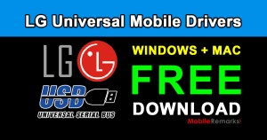 Download LG Universal Mobile Drivers For Windows & Mac