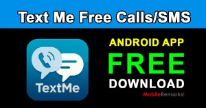 Text Me free calls sms app