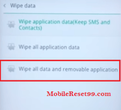 Oppo Wipe all data option - Hard Reset