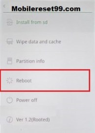 Realme reboot option - Hard Reset